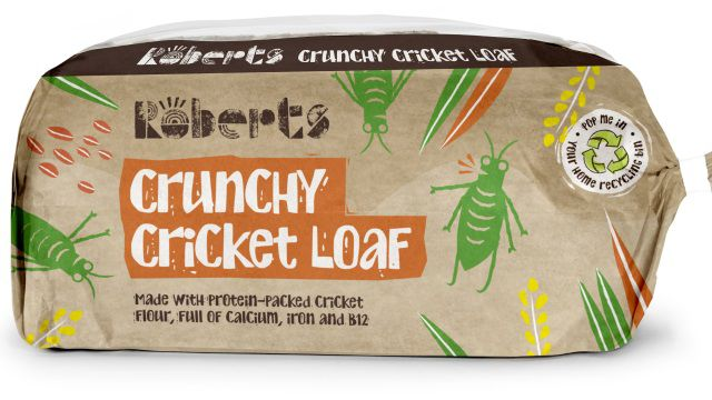 The limited edition loaf from Roberts Bakery is made from real crickets ground down into the flour