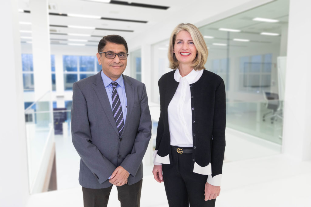 Dipak Mane and Irene Mark-Eisenring, who will take over as Chief Human Resources Officer effective September 1, 2020.