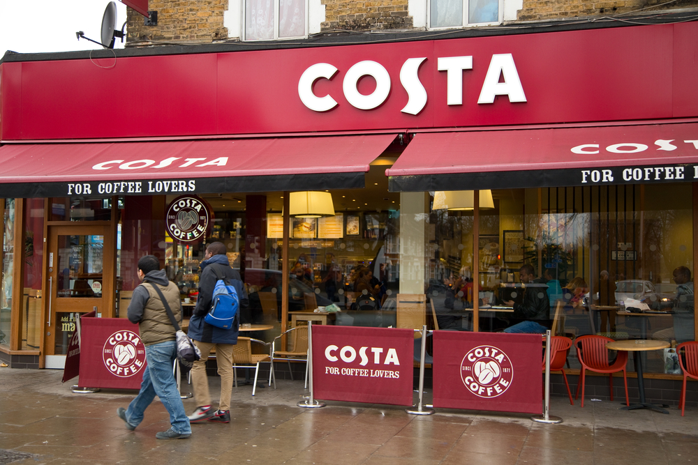 Costa Coffee and Pret close their doors