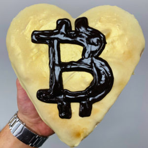 Project D baked goods with Bitcoin symbol