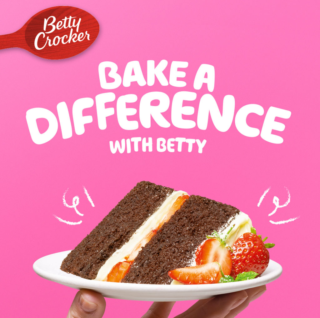 Betty Crocker bakes words into action